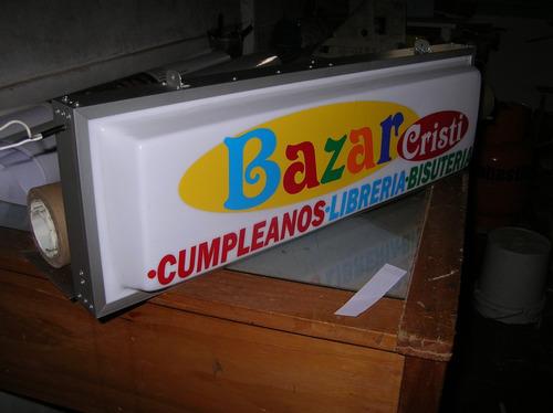 letrero luminoso para pequeño almacen, bazar, ciber, etc