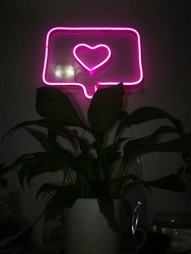 letrero neon flex notificación instagram