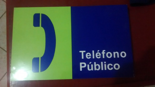 letrero para telefono publico