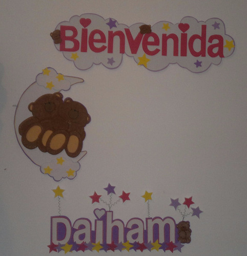 letreros, carteles, banner mickey mouse sofia shower foami
