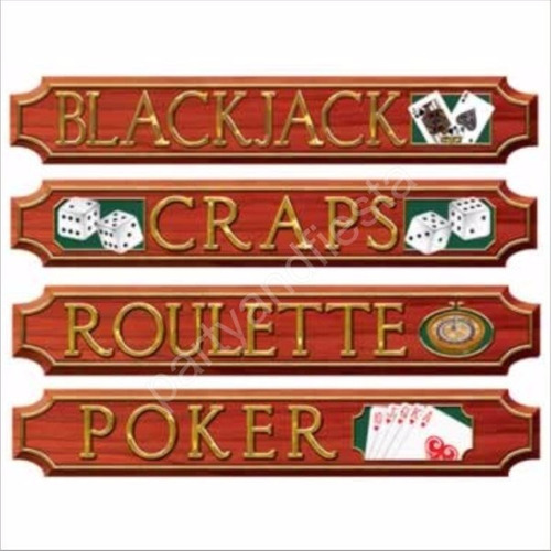 letreros casino poker  articulos fiesta animacion