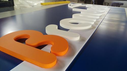 letreros en alto relieve - logos en durafont
