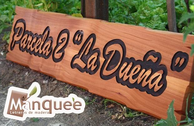 Letreros en madera nativa en mercado libre for Bar rustico de madera nativa