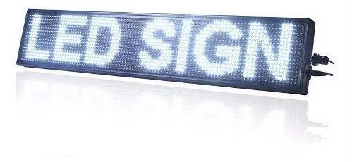 letreros led alto brillo programables 1mt x 20cm publicidad