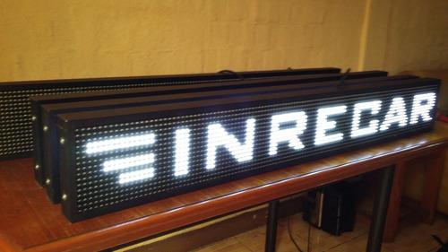 letreros led electronicos itinerarios programables  bus van