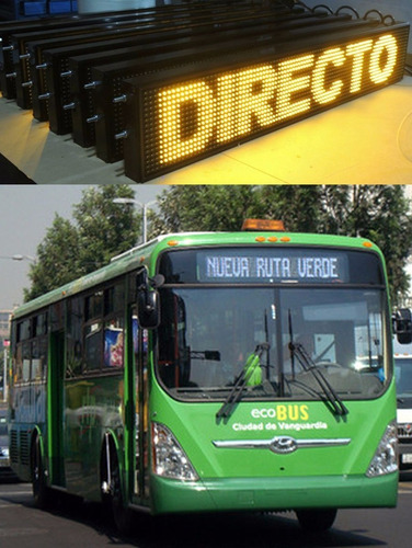 letreros led programables, rótulos led- buses 1.00mts x 20cm