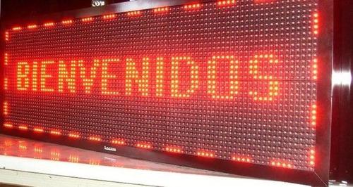 letreros led programables, rótulos led- buses  2mts x 40cm