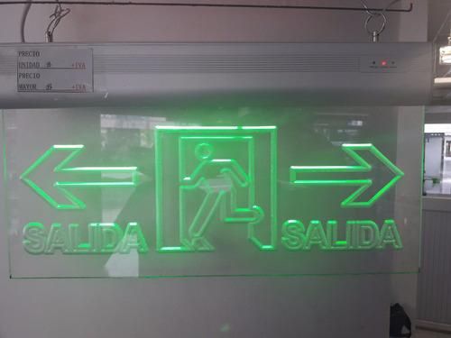 letreros led salida, baño, no fumar,  genéricos