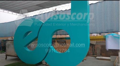 letreros, letras en acrílico, logos en mdf