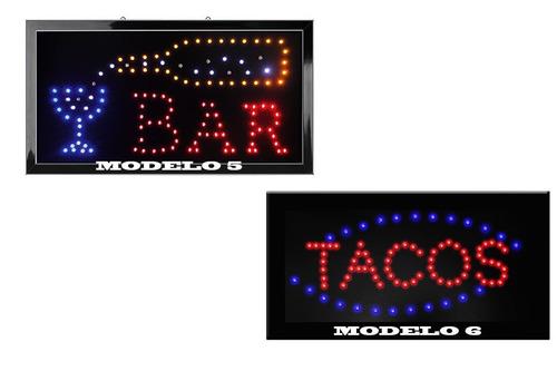 letreros luminosos con leds ecologicos modelos a elegir woow