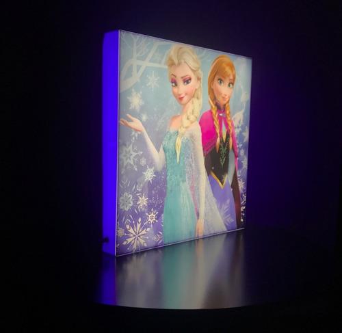 letreros luminosos lampara de noche disney batman princesas