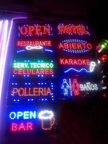 letreros luminosos publicidad led carteles luces sicodelicas