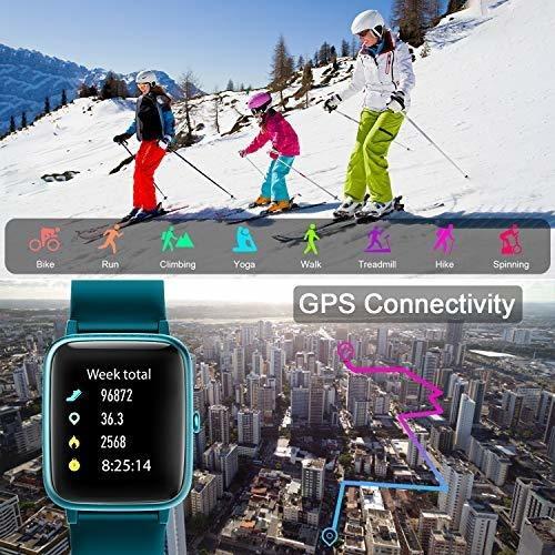 letsfit id205l green reloj smartwatch frecuencia cardíaca