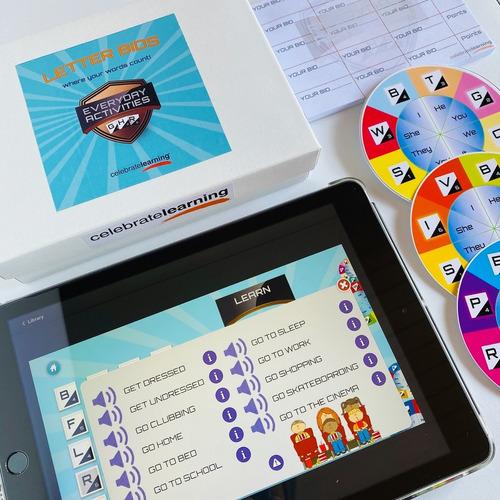 letter bids everyday activities juego didáctico inglés