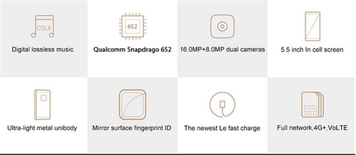 letv leeco le s3 - x522 snapdragon 652 + 3gb/32gb e eui 5.8
