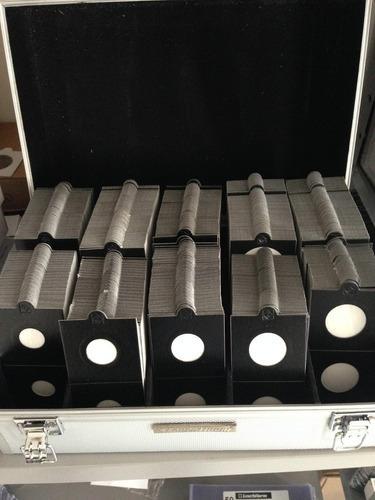 leuchtturm coin holders alvéolos 25 unidades autoadesivos