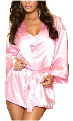 levantadora kimono en satin s m l xl