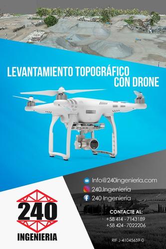 levantamiento topográfico con drone y estacion total