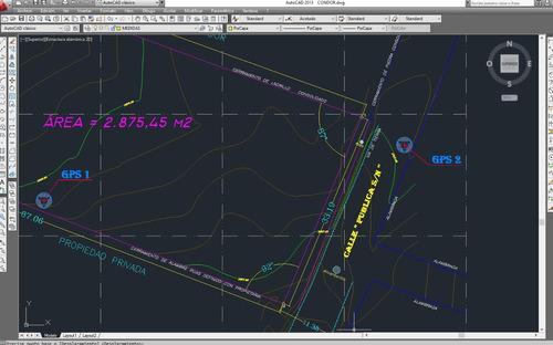 levantamiento topografico georeferenciado diferencia de área