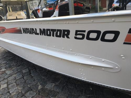 levefort 500 - bote de aluminio + motor mercury 25 hp