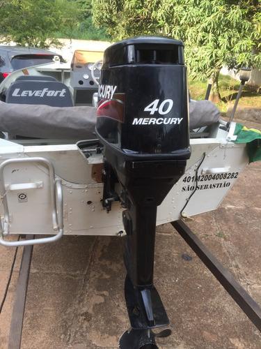 levefort marfim marino clx 5.0 com mercury 40 hp 2013