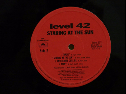 level 42 staring in the sun vinilo lp ub40