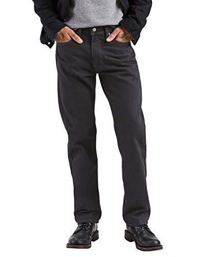 levi 's hombres 's 505 regular fit vaquero , negro , 40x29