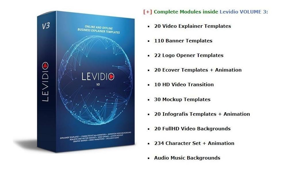 Levidio Vol 3 Apresentações Templates Power Point Vídeos