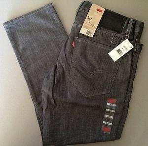 levi's 511  jean talla 30 x 32 skinny fit color gris