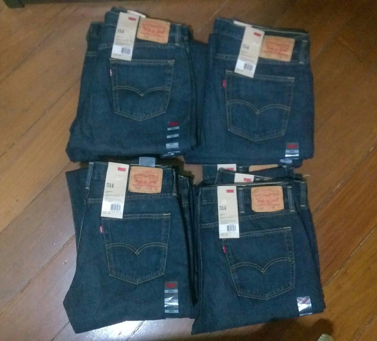 e8a1082a9 Levi´s 514 Jeans Azul Escuro Tradicional Reto Levis 501 - R$ 149,00 ...