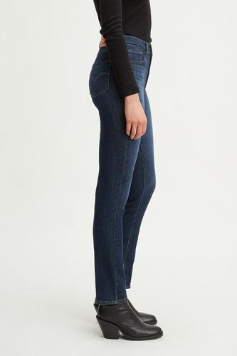 levi\'s 724 levi\'s® high-rise straight jeans carbon glow