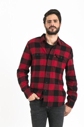 levi's® hombre camisa classic flap pockets 19587-0063 rojo