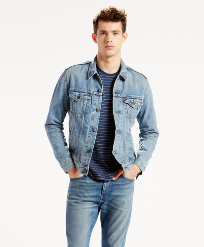 levi's® hombre chamarra the trucker jacket icy azul 72334-01