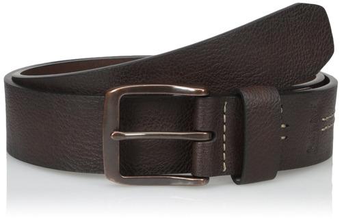 levi's men's 1 1-2-inch brida cinturón con dos caballos logo