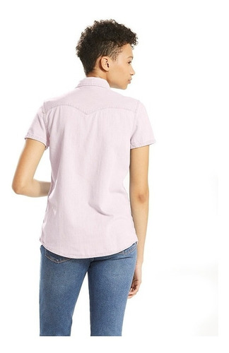 levi's® mujer blusa larissa ss western orchid ice35554-0007