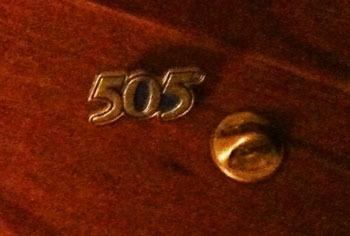 levi's piocha metálica 505, decada de los 80