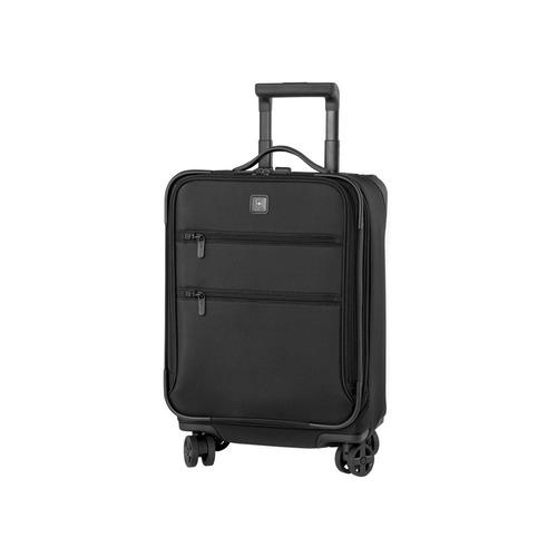 lex 20  maleta negra expandible carry on nylon 8 ruedas