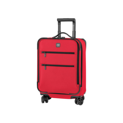 lex 20  maleta roja expandible carry on 8 ruedas nylon