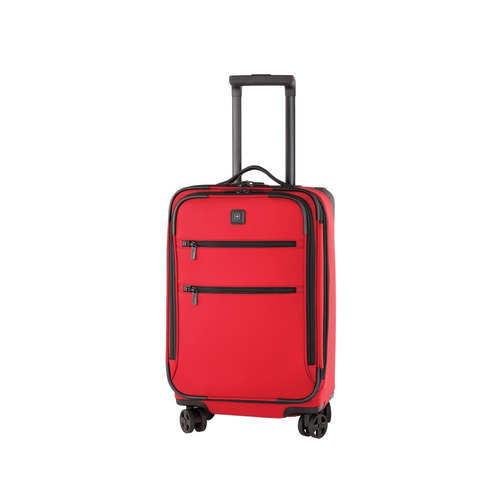 lex 22  maleta roja expandible carry on 8 ruedas nylon