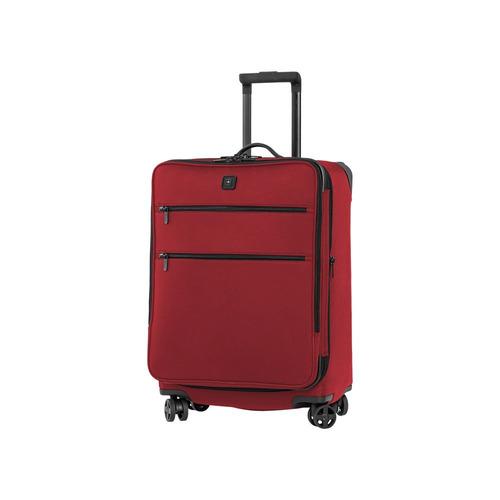 lex 24  maleta roja expandible 8 ruedas nylon