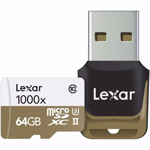 lexar 64gb professional 150mb/s 1000x micro sd microsd u3 4k