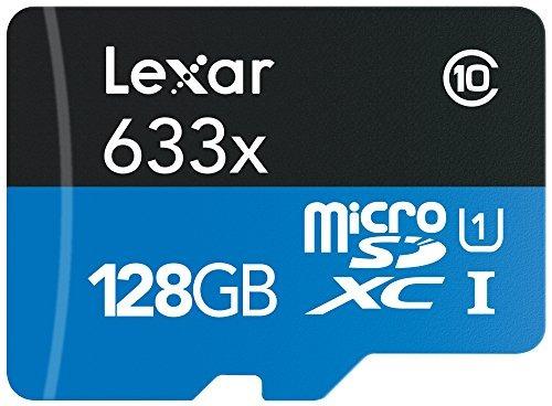 lexar alto rendimiento microsdxc 633x 128gb uhs-i tarjeta w/