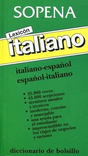 lexicón italiano español - español italiano, sopena