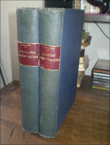 lexicon latino / italicum - 2 tomos _ c. durando - 1883