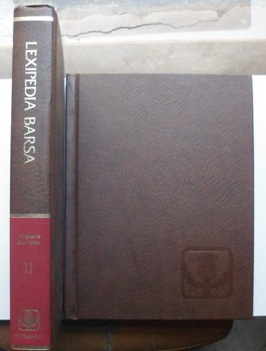 lexipedia barsa (2 tomos) / impecabes como nuevos