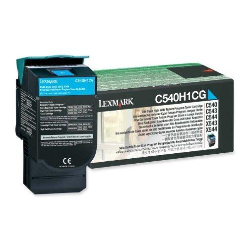 lexmark c540h1cg retorno de alta capacidad cian cartucho de