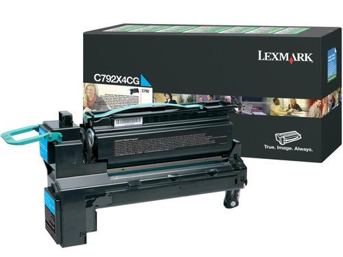 lexmark c792 cyan cartucho de impresión de rendimiento de re