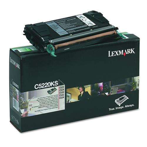 lexmark - tóner c5220ks, rendimiento de página de 4000, negr