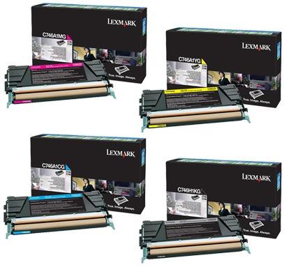 lexmark toner lexmark c746dn c748de original - set 4 colores