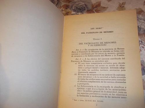 ley 10.067 - del patronato de menores de provincia de bs as.